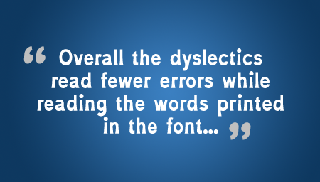 Fewer Dyslexic Errors