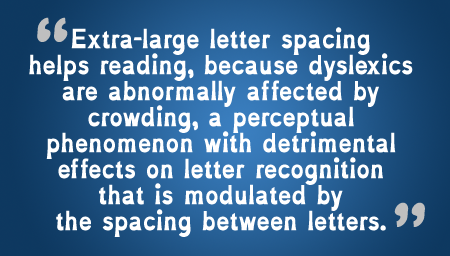 A Font Designed Specifically for People with Dyslexia